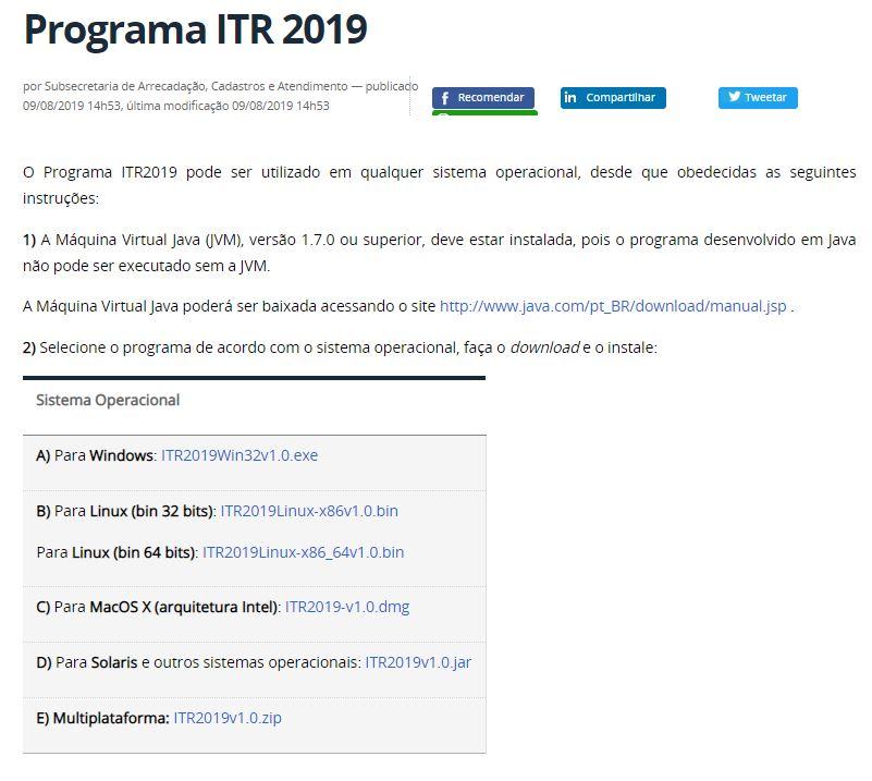 Programa ITR